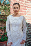 Ekta Solanki Dress ~ Ivory Silk Beaded ~ WAS £2,950 NOW £545