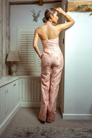 Ekta Solanki Jumpsuit ~ Peach Silk Beaded ~ WAS £2,250 NOW £360