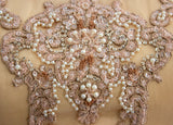 Ekta Solanki Lengha ~ Golden Beige Blush Pink Lace ~ WAS £675 NOW £210