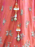 Ekta Solanki Lengha ~ Coral Orange and Gold Silk ~ WAS £3,650 NOW £995