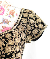 Ekta Solanki Saree Blouse ~ Black Velvet and Gold ~ WAS £210 NOW £75