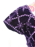 Ekta Solanki Saree Blouse ~ Purple Velvet and Mirror ~ WAS £195 NOW £55