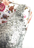 Ekta Solanki Saree Blouse ~ Silver Sequin ~ WAS £75 NOW £35
