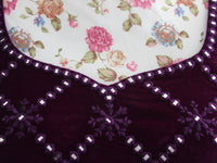 Solanki Saree Blouse ~ Purple Velvet and Mirror ~ WAS £185 NOW £55