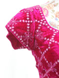 Ekta Solanki Saree Blouse ~ Magenta Velvet and Mirror ~ WAS £195 NOW £60