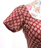 Ekta Solanki Saree Blouse ~ Maroon Silk Brocade ~ WAS £75 NOW £30
