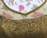 Ekta Solanki Saree Blouse ~ Antique Bronzer Sequin ~ WAS £55 NOW £20
