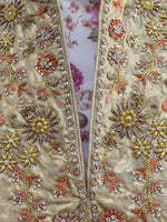 Ekta Solanki Suit ~ Gold and Pink Silk Banarsi  ~ WAS £520 NOW £170