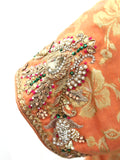 Ekta Solanki Suit ~ Orange and Fuchsia Pink Silk Banarsi  ~ WAS £580 NOW £190