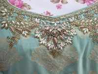 Ekta Solanki Suit ~ Peppermint Green Pearl Silk Banarsi  ~ WAS £620 NOW £185