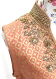 Ekta Solanki Suit ~ Peach and Gold Silk Banarsi  ~ WAS £580 NOW £175