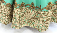 Ekta Solanki Anarkali ~ Sea Green Pure Crepe Antique  ~ WAS £2,450 NOW £540