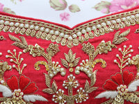 Ekta Solanki Lengha ~ Classic Red Raw Silk Zardozi ~ WAS £4,450 NOW £1,450