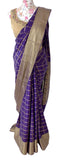 Ekta Solanki Saree and Blouse ~ Navy Blue Gold Zari Pure Silk ~ WAS £300 NOW £135
