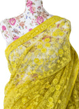 Ekta Solanki Saree and Blouse ~ Yellow Lace Sequins Net ~ WAS £1,250 NOW £750