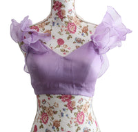 Ekta Solanki Saree Blouse ~ Lilac Silk Organza Ruffle ~ WAS £175 NOW £40