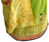 Ekta Solanki Lengha ~ Green and Navy Banarsi Silk ~ WAS £1,650 NOW £420