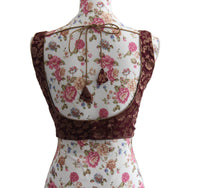Ekta Solanki Saree Blouse ~ Burgundy Silk Brocade ~ WAS £65 NOW £25
