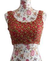 Ekta Solanki Saree Blouse ~ Cerise Pink and Gold ~ WAS £175 NOW £40