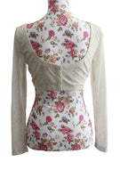Ekta Solanki Saree Blouse ~ Cream Glitter Stretchy  ~ WAS £90 NOW £25
