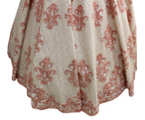 Ekta Solanki Anarkali ~ Apricot and Ivory Organza Beaded ~ WAS £2,950 NOW £655