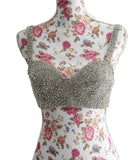 Ekta Solanki Saree Blouse ~ Ivory and Crystal  Bralette ~ WAS £485 NOW £345
