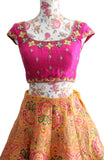 Ekta Solanki Lengha ~ Yellow Floral Banarsi ~ WAS £1,150 NOW £475