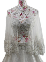 Ekta Solanki Lengha ~ White Crystal Cape ~ WAS £3,875 NOW £875