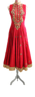 Ekta Solanki Anarkali ~ Raspberry Pink Collar  ~ WAS £2,950 NOW £680