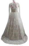Ekta Solanki Dress ~ Ivory Nude Beaded Trail ~ WAS £3,850 NOW £845