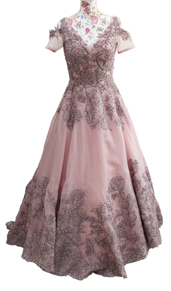 Ekta Solanki Dress ~ Wisteria and Lilac Organza Lace ~ WAS £2,350 NOW £355