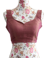 Ekta Solanki Saree Blouse ~ Magenta Silk Brocade ~ WAS £70 NOW £30