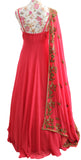 Ekta Solanki Anarkali ~ Deep Coral Antique Gold  ~ WAS £1,550 NOW £280