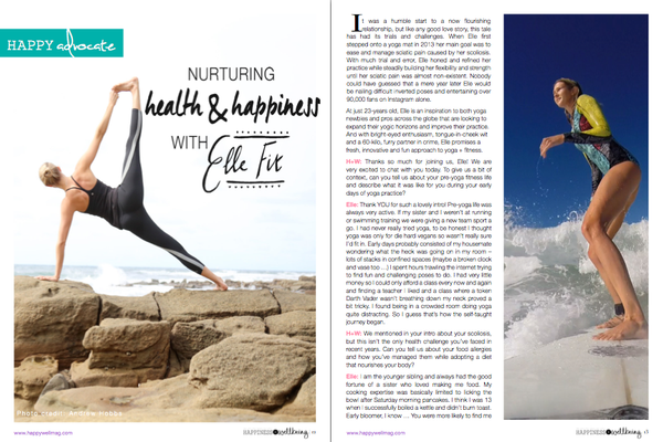 Cover And 8 Page Spread In Septembers Issue Of Happiness Wellbeing Mag Plus Lots Other Great Articles D