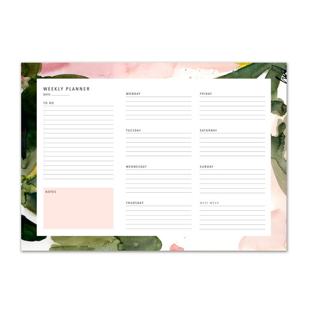 WEEKLY PLANNER – FLORAL COLOURS