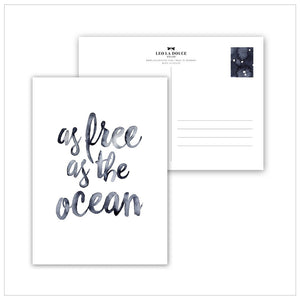 POSTKARTE - AS FREE AS THE OCEAN