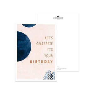 POSTKARTE - LET´S CELEBRATE GOLDFOIL