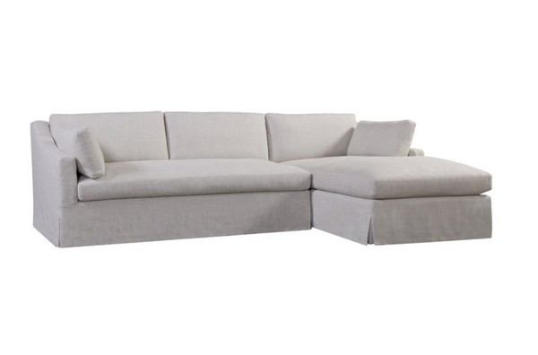 Flora Linen Sectional Sofa w/ Chaise