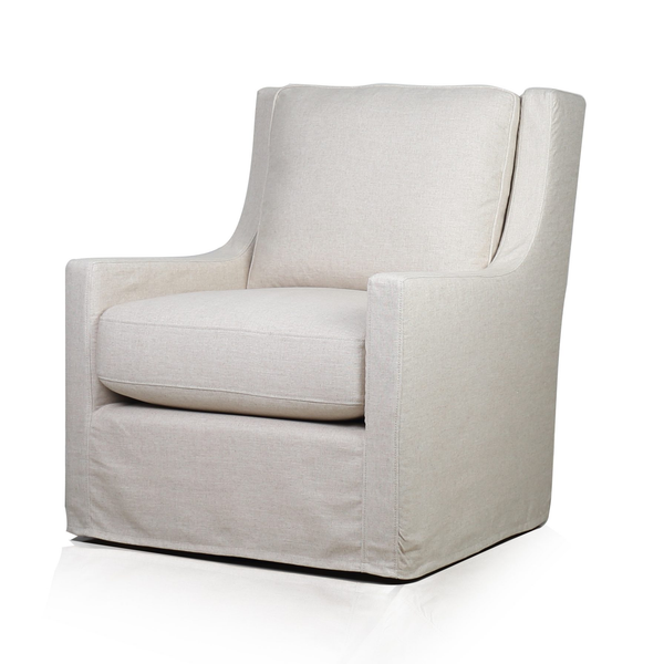 Morgan Slipcover Swivel Glider - Natural