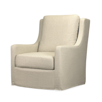 Morgan Slipcover Swivel Chair - Natural