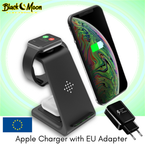 ⚡ 3-in-1 Universal Wireless iPhone & Samsung Galaxy Charging Stations - Black Moon Electronics