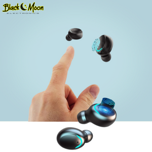 💧 Galactic Waterproof Sport 2.0 Bluetooth Wireless S11 Earphones - Black Moon Electronics