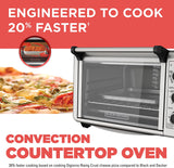 BLACK+DECKER Convection Toaster Oven, 6 Slice, Stainless Steel, TO3210SSD