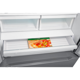Double Freezer Stainless Steel Refrigerator