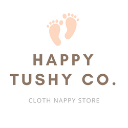 HAPPY TUSHY CO MODERN CLOTH NAPPY ONLINE STORE AUSTRALIA HAPPY TUSHY CO LOGO