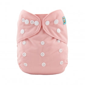 Pink girls Modern cloth nappy OSFM with bamboo insert
