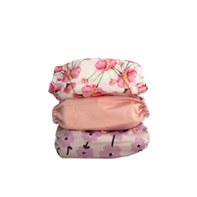 Load image into Gallery viewer, Cloth Nappy Variety Stack- Blossom