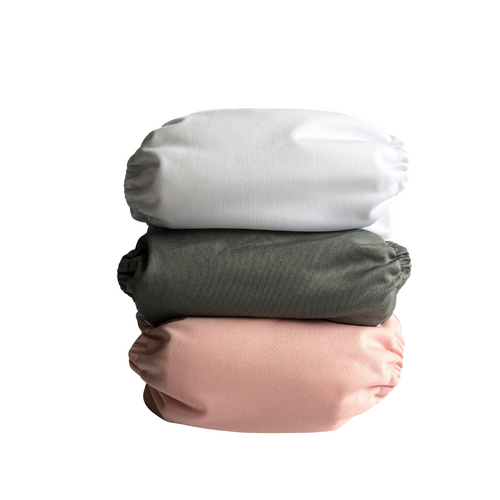 ALVA BABY OSFM BUNDLE OF 3 POCKET NAPPIES MARSHMALLOW SET