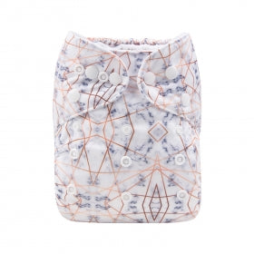 Aztec pastel and gold print eco friendly Modern Cloth Nappy