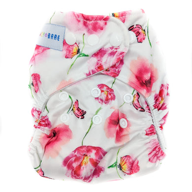 Baby Bare All In 2 Bare Cub Nappy pink floral